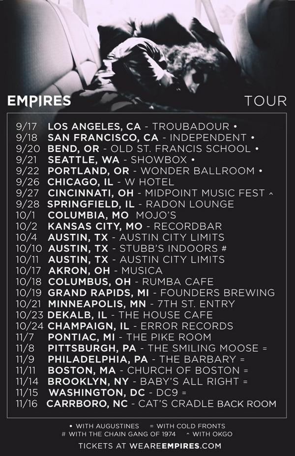Empires Are Touring @ARTISTdirect